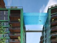 צפו: פרויקט יוקרה חדש יאפשר לדיירים לשחות מעל הרחוב