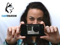 """התקן שמחבר בין סמארטפון למצלמת Go Pro CAMpanion / צילום: יח""""צ"""