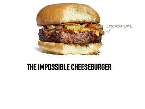 המבורגר צמחוני עם טעם של בשר אמיתי Impossible foods  / צילום: וידאו