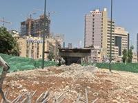 צפו ברגע ההיסטורי: פיצוץ גשר מעריב בתל אביב