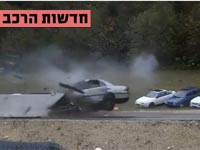 """צפו: כך נראית תאונה במהירות 200 קמ""""ש ברכבים שונים"""