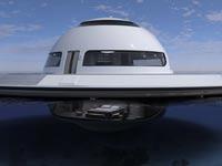 """בית צף, נופש, מלון על המים, UFO houseboat / צילום: יח""""צ"""