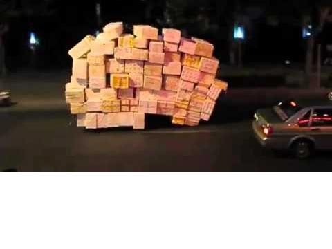 תלת אופן עמוס לעייפה בסין, ויראלי, תחבורה / צילום: וידאו
