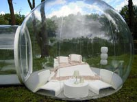 "inflatable bubble tent אוהל בועה, / צילום: יח""צ"