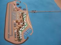 כך יראה האי המלאכותי שיבנה מול חופי עזה ב-5 מיליארד ד'