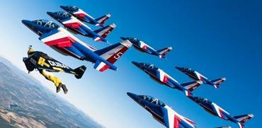 ג'טמן, חליפת סילון, חיל האוויר הצרפתי / צילום: וידאו