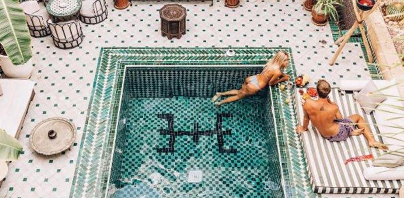 בריכה במלון מרוקו/ צילום: אינסטגרם