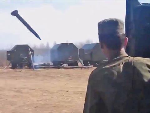 טיל רוסי, s-300, צבא רוסיה, פיצוץ, תרגיל שכשל / צילום: וידאו