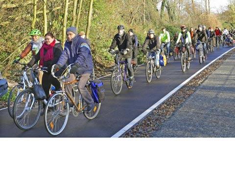 אוטוסטרדת אופניים גרמניה Bicycle Autobahn / צילום: וידאו