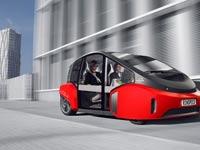 """מכונית אוטונומית עתידנית, קונספט, Rinspeed Oasis  / צילום: יח""""צ"""