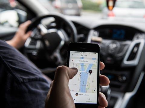 """אובר UBER  אפליקציית מוניות ונסיעות משותפות, אתר לשיפור התנועה בערים / צילום: יח""""צ"""