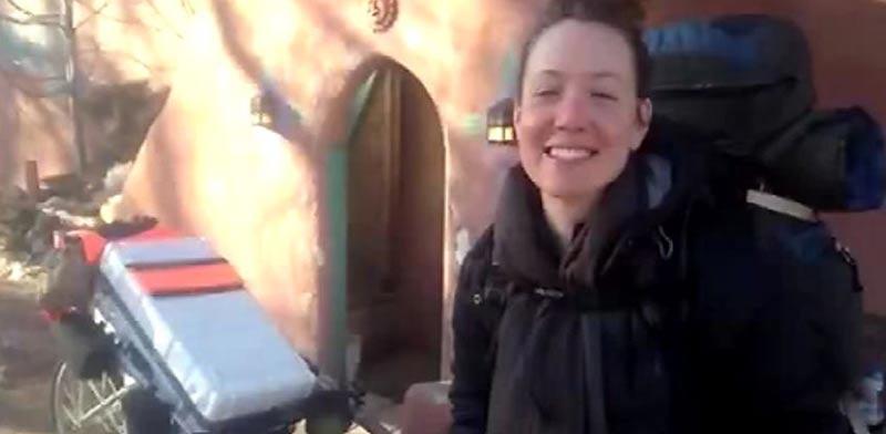 מטיילת אנג'לה מוסקוול/ צילום: מתוך הוידאו