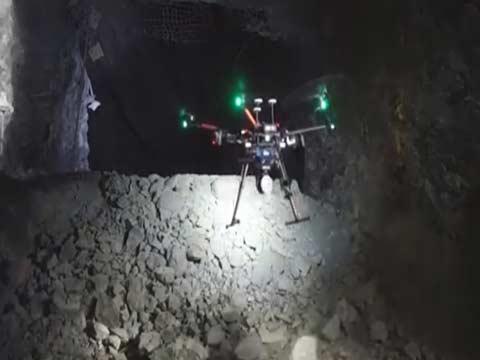 רחפן למכרות ומערות (drone 3 ) צילום: מתוך הוידאו