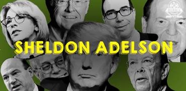 """קמפיין רשת: שלדון אדלסון הוא אחד מ""""פרצופי תאוות הבצע"""""""