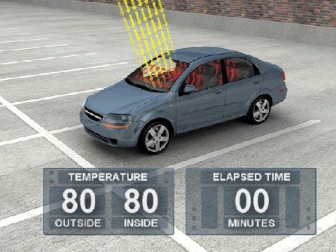 חום בתוך מכונית חונה   צילום: וושינגטון פוסט