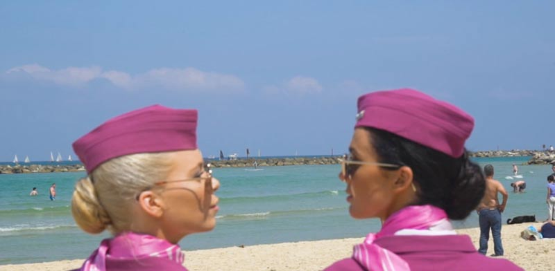WOW flight attendants Photo: Video shot