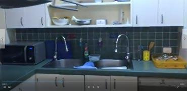 """מטבח בית רה""""מ/ צילום: מהוידאו"""