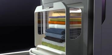 חלום של כל גבר: מכונה שמקפלת בגדים ומכניסה למגירה