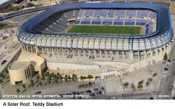 A Solar Roof, Teddy Stadium | Moriah Jerusalem Development Company Ltd. | PR