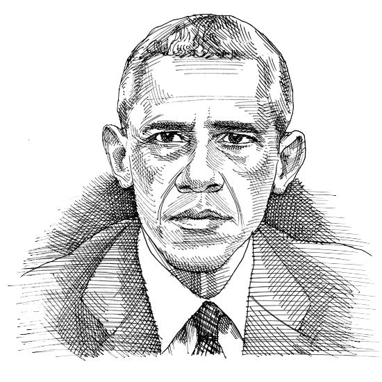 ברק אובמה / איור: גיל ג`יבלי