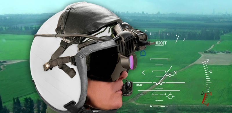 Elbit color display helmet