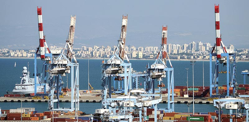 Haifa Port  photo: Eyal Yitzhar