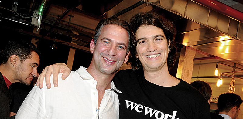 Adam Neumann (right) and Miguel McKelvey