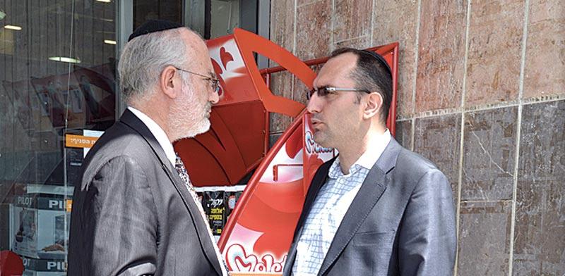מוטי בן משה ואדוארדו אלשטיין / צילום: תמר מצפי