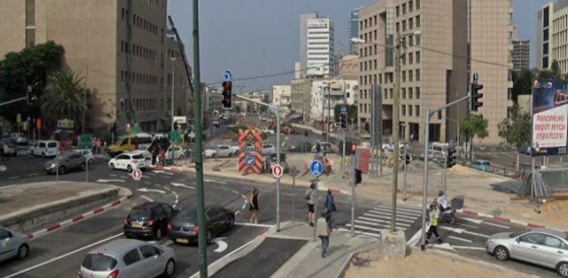 Tel Aviv light rail construction