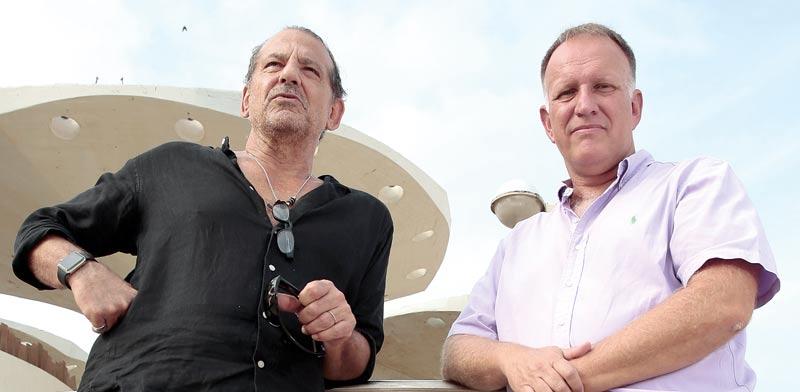 עמיר בירם והאדריכל אבנר ישר / צילום: כפיר זיו