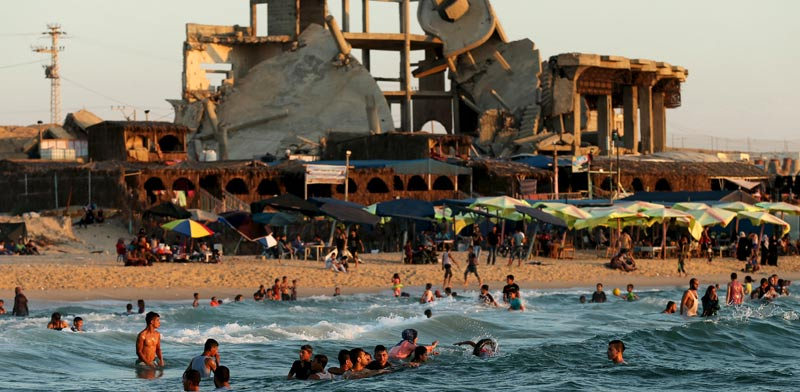Gaza beach Photo: Reuters