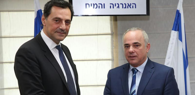 Steinitz and Energean chairman, photo: Yossi Zamir
