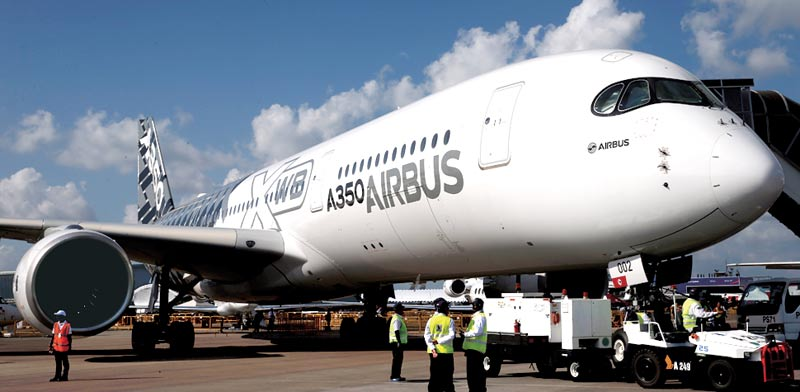 Airbus A350  photo: Reuters