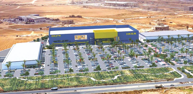 Ikea's planned Beersheva store Photo: Roy Mor