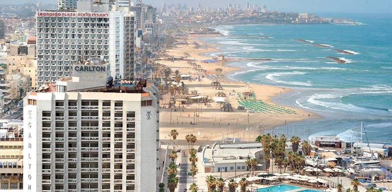קו המלונות בתל אביב / צילום: תמר מצפי