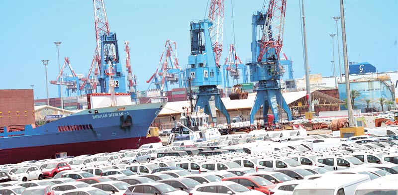 New cars at Ashdod port Photo: Tamar Matsafi