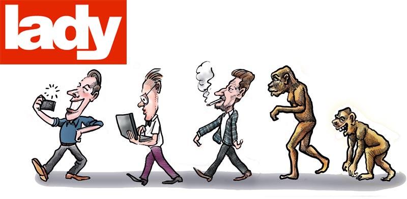 אבולוציה / איור : גיל ג'יבלי