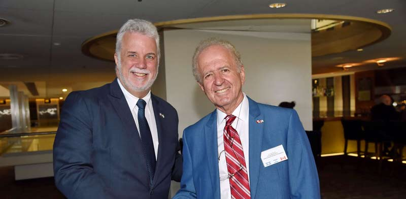 Yehuda Raveh and Philippe Couillard Photo: PR