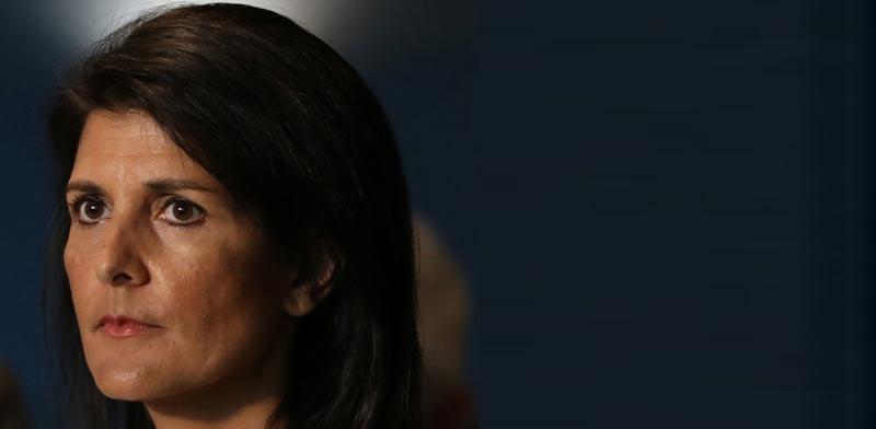 """ניקי היילי, שגרירת ארה""""ב באו""""ם/ צילום: רויטרס"""