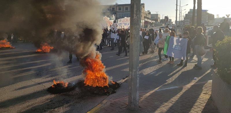 Teva Ashdod workers' demonstration  photo: Histadrut