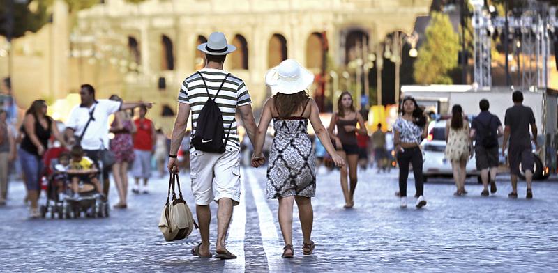 רחוב ברומא / צילום: רויטרס