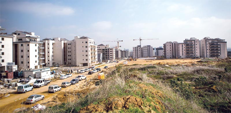 Construction in Ra'anana Photo Shlomi Yosef