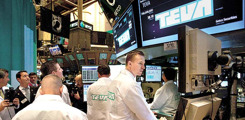 Teva share trading Photo: Bloomberg