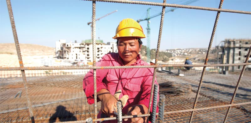 Chinese worker in Israel Ammar Awad, Reuters