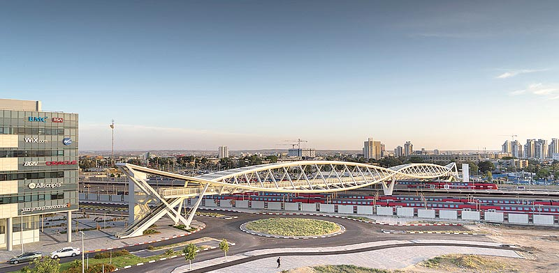 Beersheva footbridge Photo: Orian architects