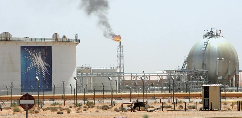 בית זיקוק של ארמקו בסעודיה / צילום: רויטרס