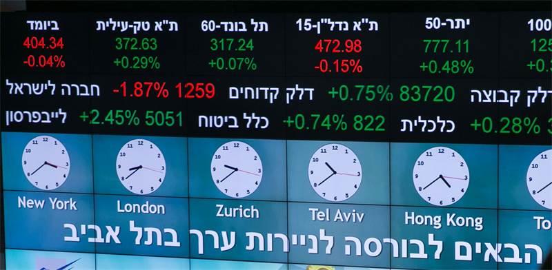 הבורסה בתל-אביב / צילום: רויטרס