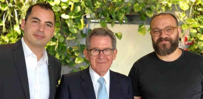 Ami Daniel, Lord John Browne and Matan Peled Photo: PR
