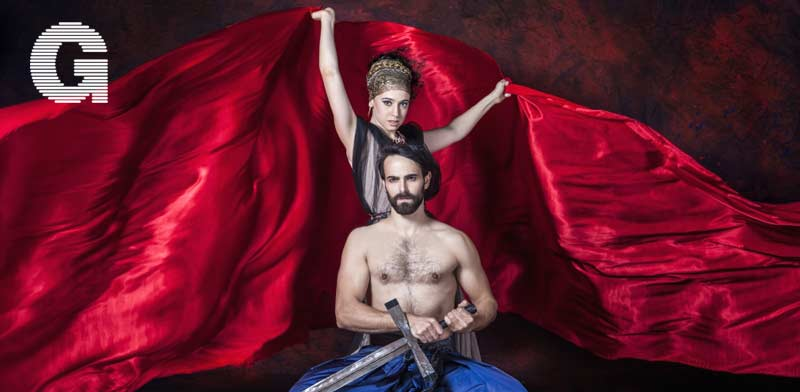 אבי אזולאי ורוני עינב כמקבת וליידי מקבת  / צילום: ישעיה פינברג