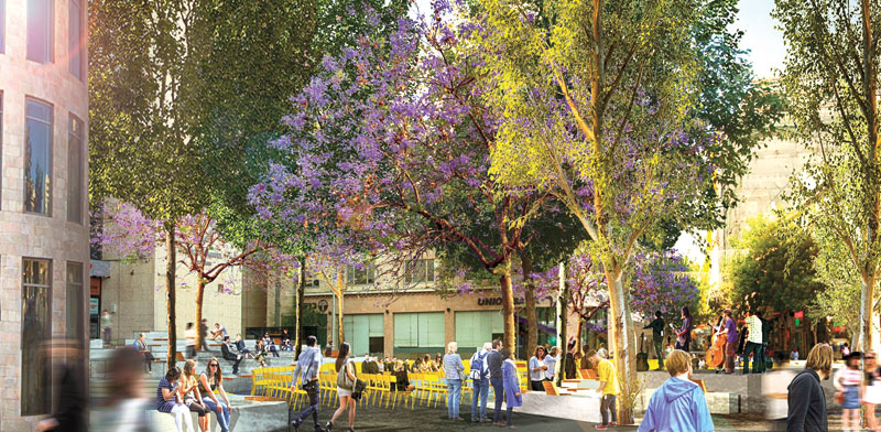 Zion Square as it will look Photo: Halamish